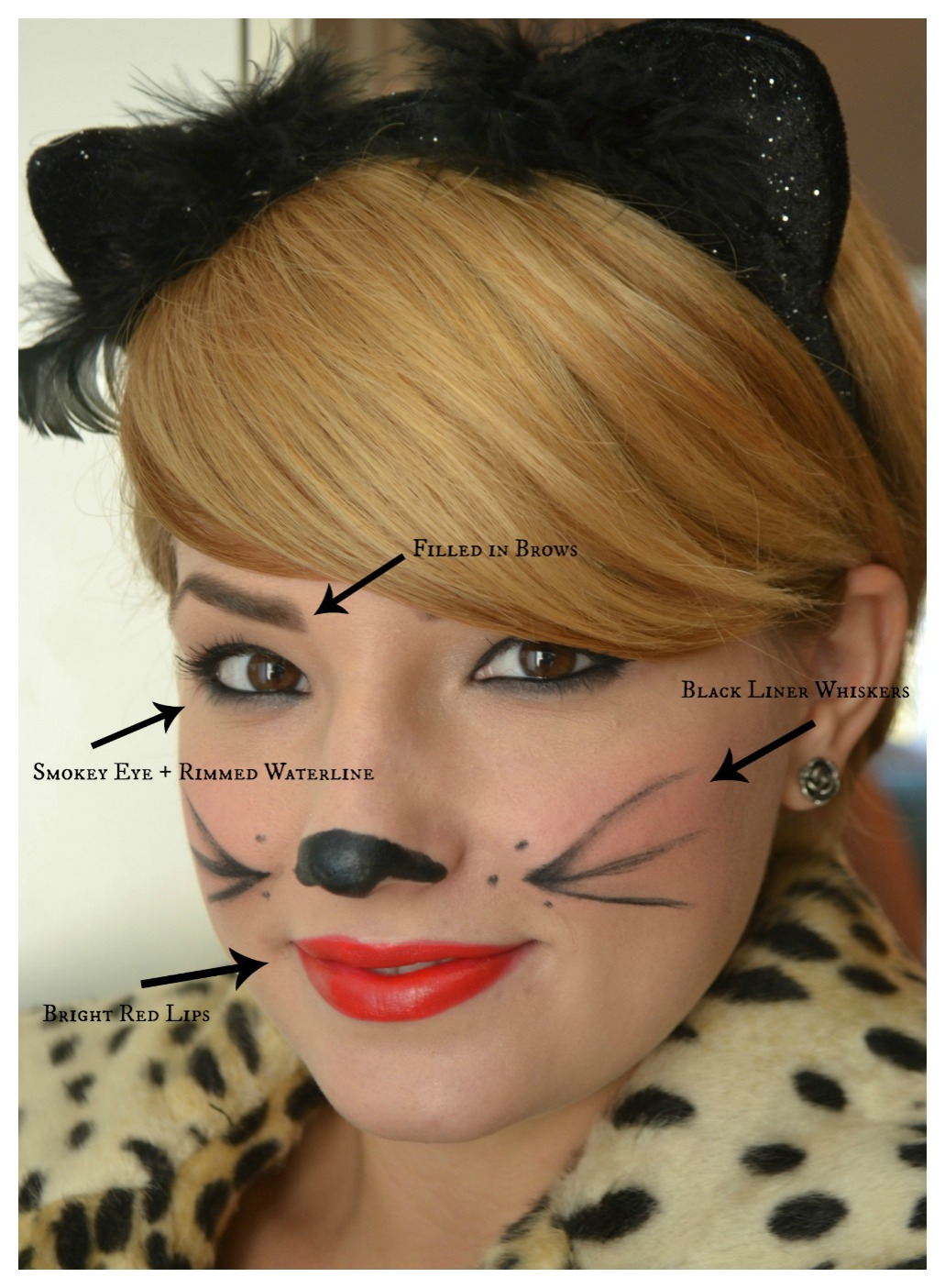 Easy Makeup Tutorial And Style For Android: Elements Of Fun: Easy Cat Halloween Makeup